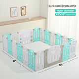 Playpen-Baby Folding playpen Kids Activity Centre Safety Play Yard Home(18+2)