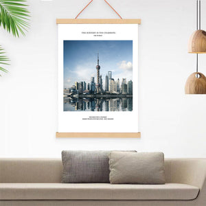 Wall Art-Poster Frame-Wall Art with Wood Magnetic Frame Hanger-Canvas Artwork