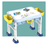 BuildIing Blocks Table-Kids Activity Table-With 55pcs Building Blocks And One Chai-6 IN 1