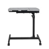 Multifunctional Flat Surface Lifting Computer Desk Black For Home Office