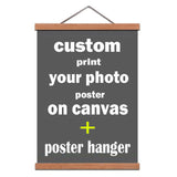 Turn Photo Into Canvas printing with poster hanger-Wood Magnetic Frame Hanger