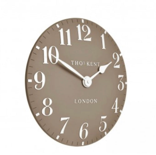 "Thomas Kent 12""Arabic Clay Wall Clock"