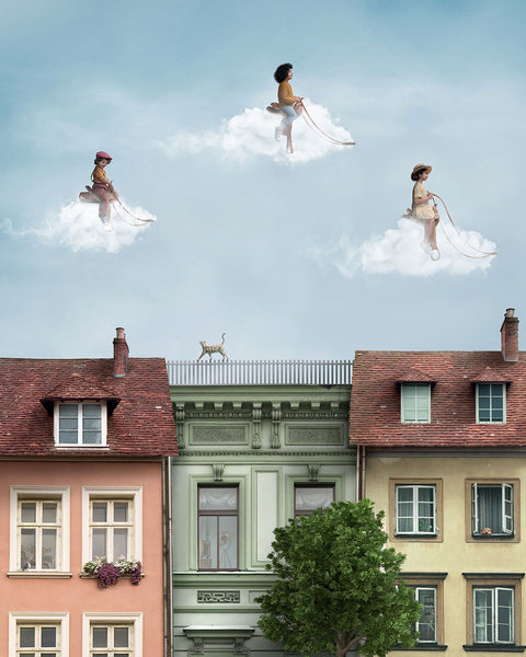 """Cloud Riders In Vienna"" - 16x20 Custom Print"