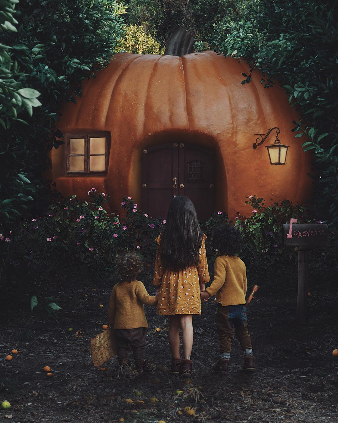 """Pumpkin House"" - Photoshop Tutorial"