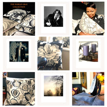 Load image into Gallery viewer, Handmade cushion cover - grey and silver silk-like