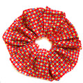 Oversized scrunchie, red, floral
