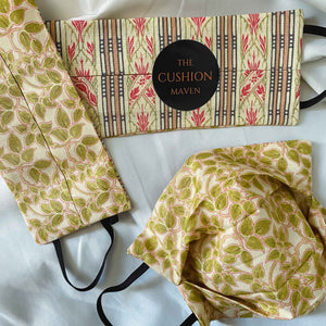 "Reversible & Reusable V&A Cotton Face Mask, ""Gardening Leave"""