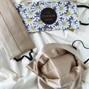 "Reversible & Reusable Cotton & Mulberry Silk Face Mask, ""Whoops A Daisy"""