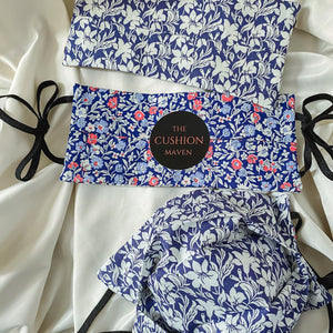 "Reversible & Reusable Liberty of London Adjustable Cotton Face Mask, ""Blue Blood"""
