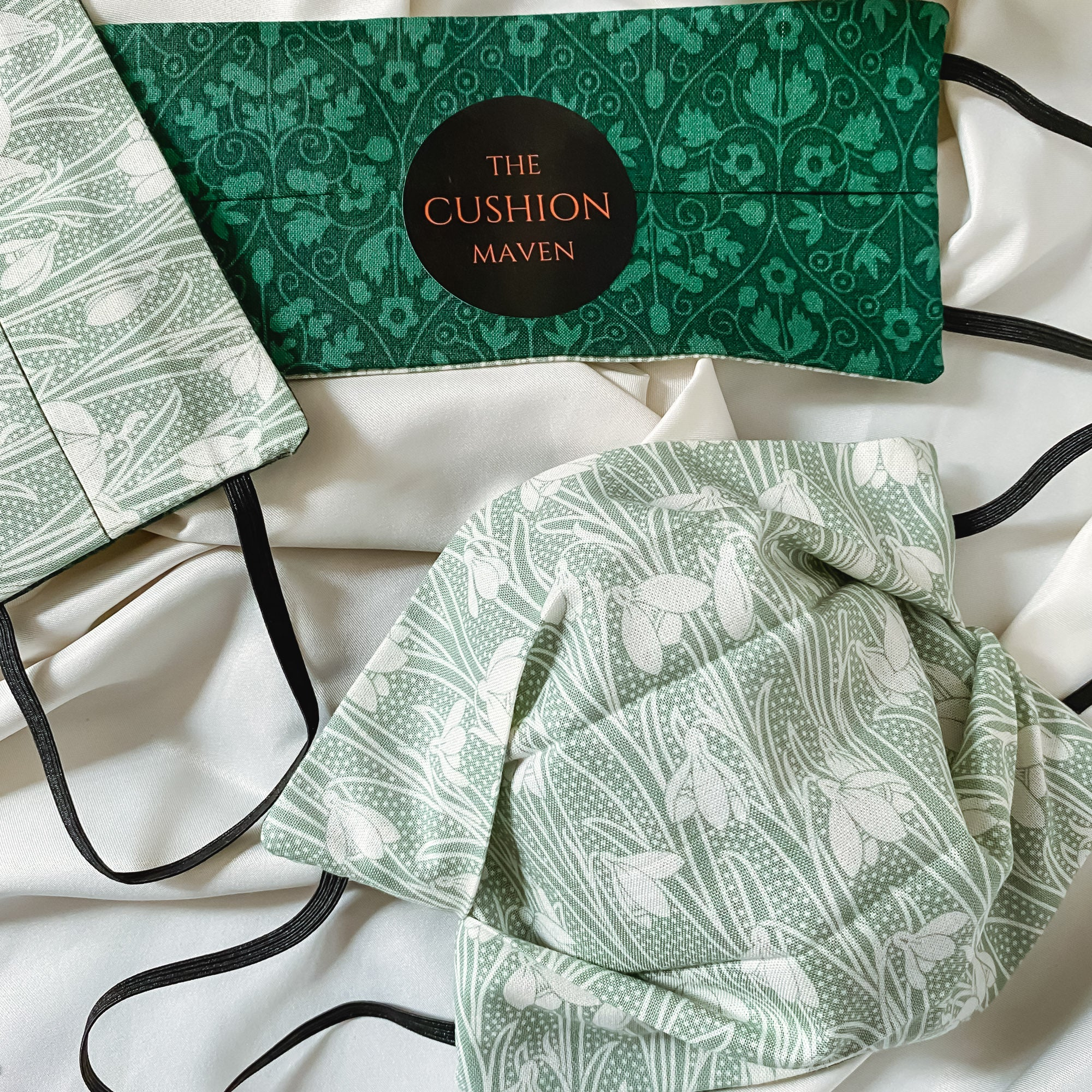 "Reversible & Reusable Liberty of London Cotton Face Mask, ""Emerald Isle"""
