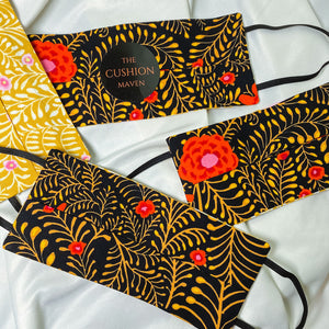 "Reversible & Reusable V&A Cotton Face Mask, ""Pumpkin Rose"""