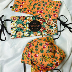 "Reversible & Reusable Liberty of London Adjustable Cotton Face Mask, ""Harvest Festival"""