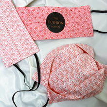 "Load image into Gallery viewer, Reversible & Reusable Cotton Face Mask, ""Sky Pink"""