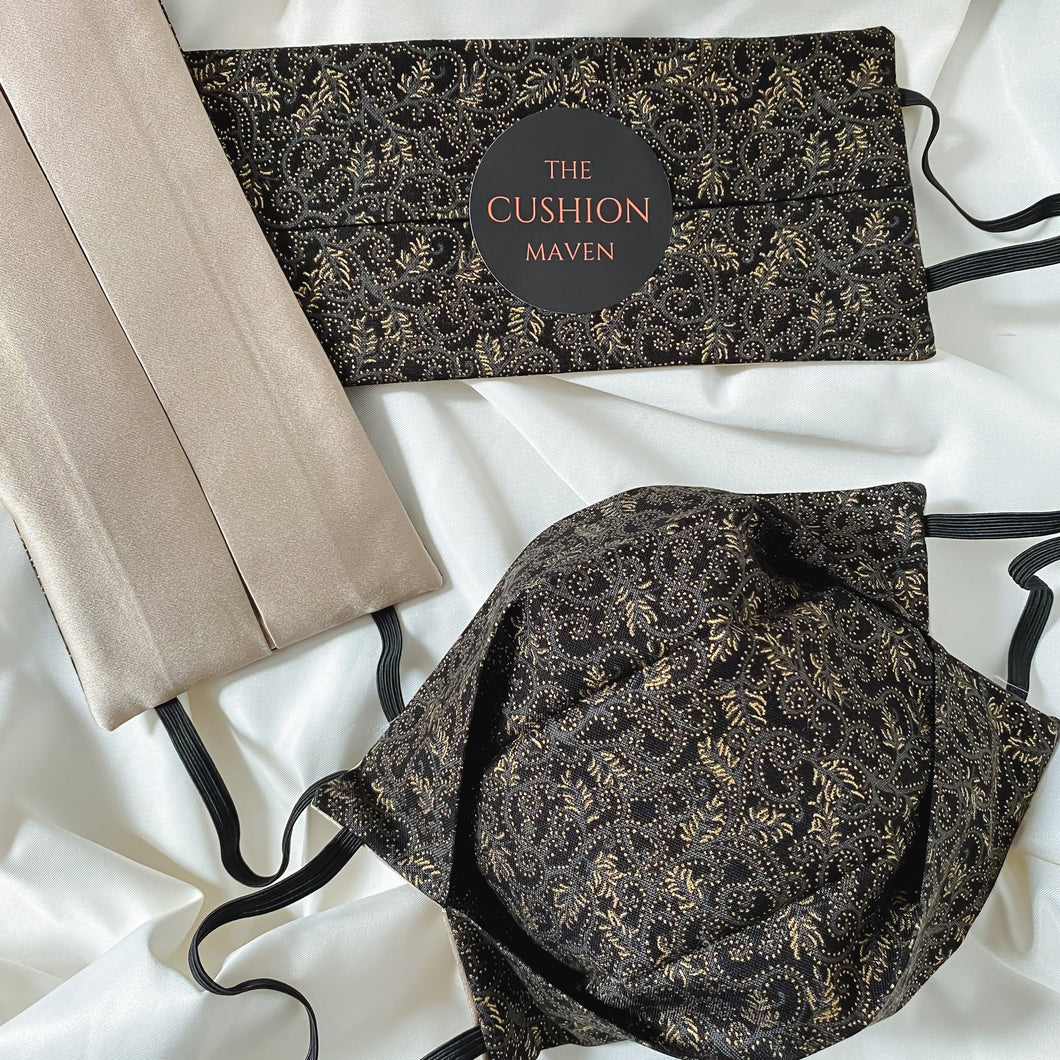 Reversible & Reusable Cotton & Mulberry Silk Face Mask,