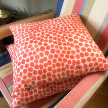 Load image into Gallery viewer, Handmade cushion - orange dots