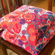 Load image into Gallery viewer, Handmade cushion - colourful ethnic design