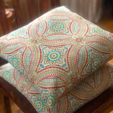 Load image into Gallery viewer, Handmade cushion - colourful Mayan style design