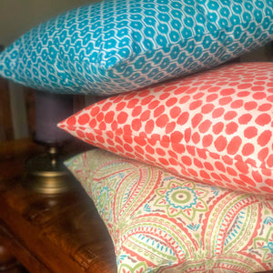 Handmade cushion - colourful Mayan style design