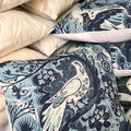 Handmade cushion - blue and white doves cushion -