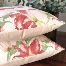 Load image into Gallery viewer, Handmade cushion - artistic Lillies