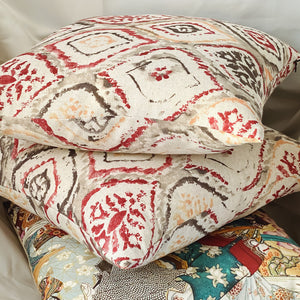 Handmade cushion - Arabesque design cushion -
