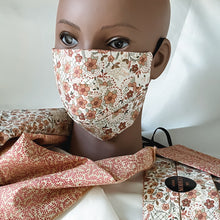 "Load image into Gallery viewer, Reversible & Reusable Batik Face Mask, ""Jenny Joseph"" Face Mask -"