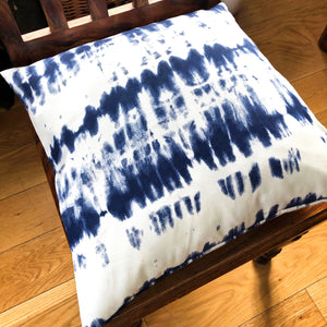 Handmade cushion cover - Blue & White Tie Dye