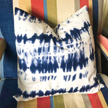 Load image into Gallery viewer, Handmade cushion cover - Blue & White Tie Dye