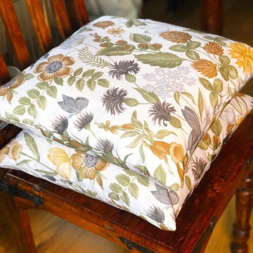 Handmade cushion cover - country garden floral cushion
