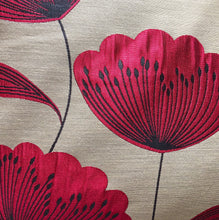 Load image into Gallery viewer, Handmade cushion - red and black poppies