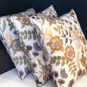 Handmade cushion - country garden floral cushion cushion -