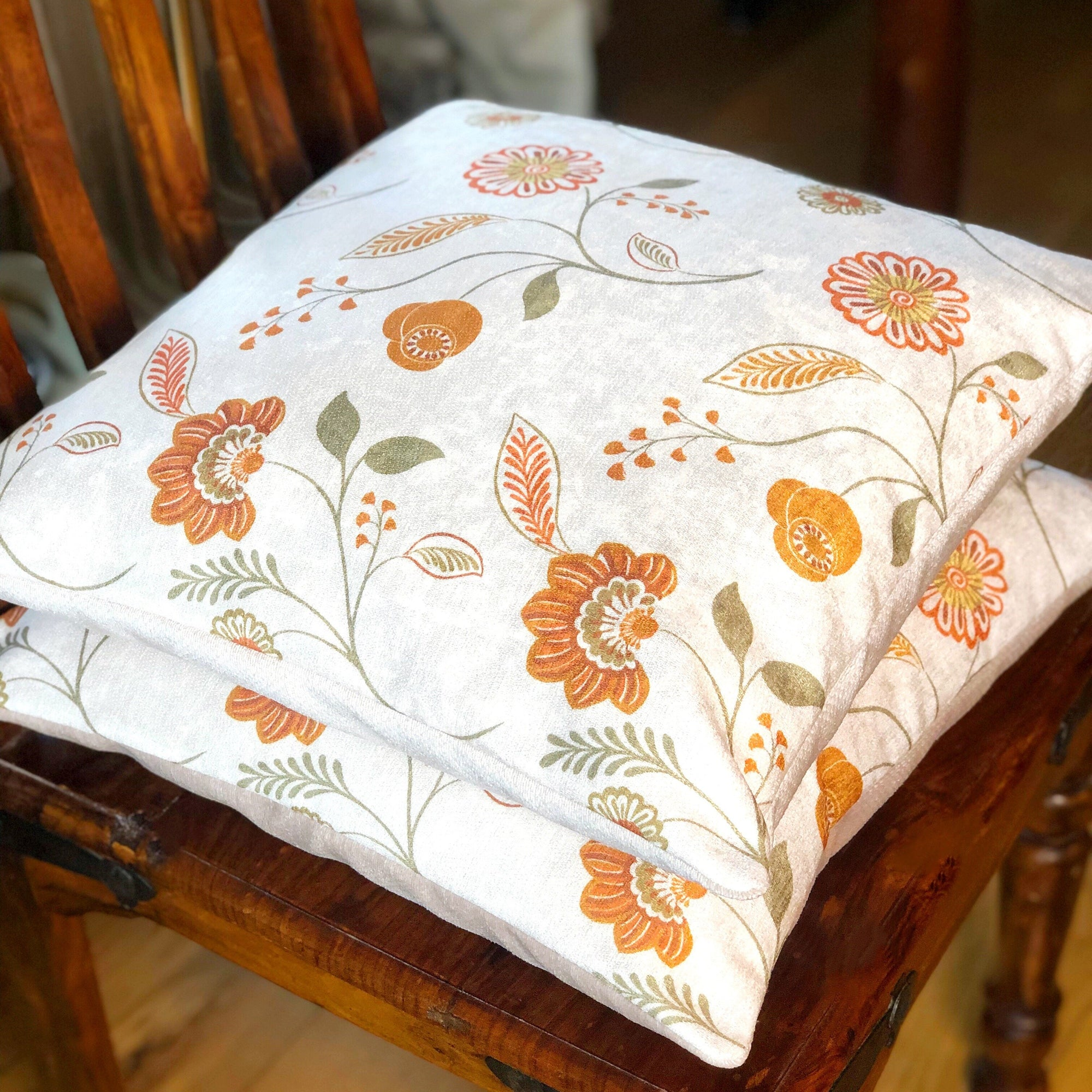 Handmade cushion - country garden flowers cushion -
