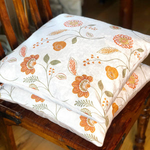 Handmade cushion cover - country garden flowers