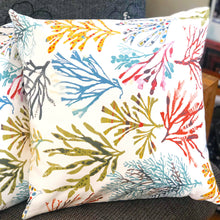Load image into Gallery viewer, Handmade cushion cover - colourful floral trees