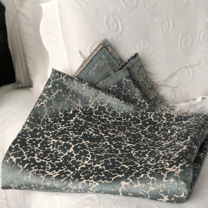 Handmade cushion cover, teal, black and cream fabric by The Cushion Ninja