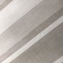 Load image into Gallery viewer, Handmade cushion - Dove grey awning stripe Oxford cushion