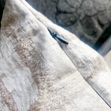 Load image into Gallery viewer, Handmade cushion - silver embossed velvet cushion -