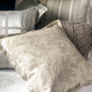 Handmade cushion - linen grey damask Oxford cushion cushion -