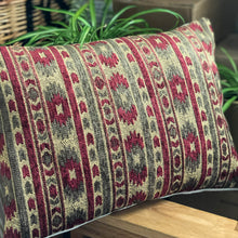 Load image into Gallery viewer, Handmade cushion - heavy tapestry in red and green