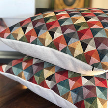 Load image into Gallery viewer, Handmade cushion - geometric tapestry