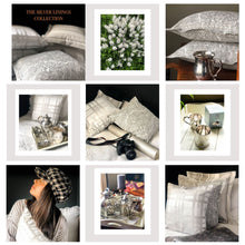 Load image into Gallery viewer, Handmade cushion - linen grey damask Oxford cushion