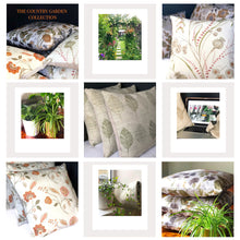 Load image into Gallery viewer, Handmade cushion cover - country garden flowers