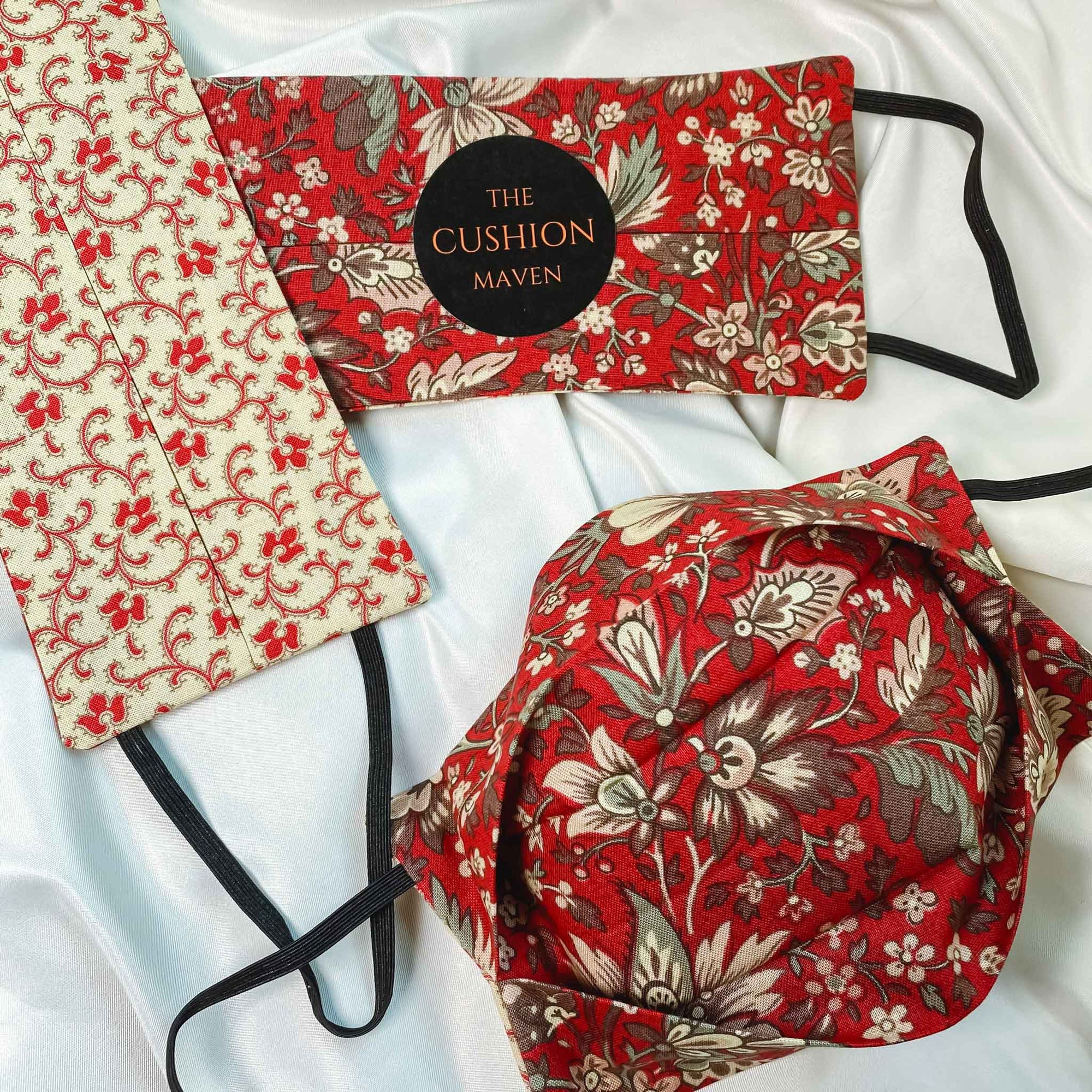 "Reversible & Reusable Liberty of London Cotton Face Mask, ""Ruby Cream"""