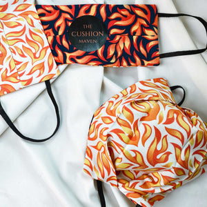 "Reversible & Reusable Cotton Face Mask, ""Eternal Flame"""