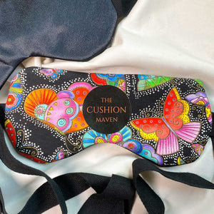 "Sleep Mask / Eye Mask in pure cotton, ""Madam Butterfly"""