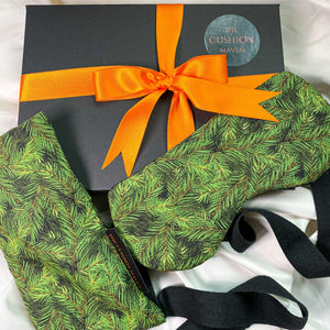 "Gift Box, Weighted Eye Pillow, Sleep Mask / Eye Mask in pure cotton, ""Pine Field"""