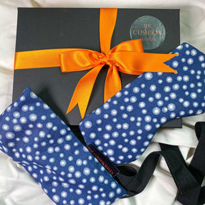 "Gift Box, Weighted Eye Pillow, Sleep Mask / Eye Mask in pure cotton, ""Navy Star"""