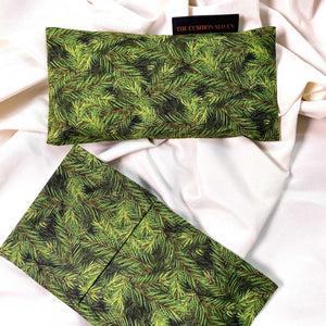 "Weight Eye Pillow / Yoga Eye Pillow, ""Pine Field"""