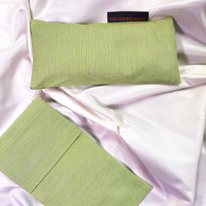 "Weighted Eye Pillow / Yoga Eye Pillow, ""A Little Lime"""