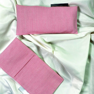 "Cotton Weighted Eye Pillow / Yoga Eye Pillow, ""Candy Pink"""